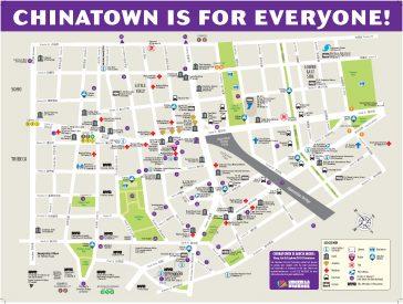 Map of New York City Chinatown