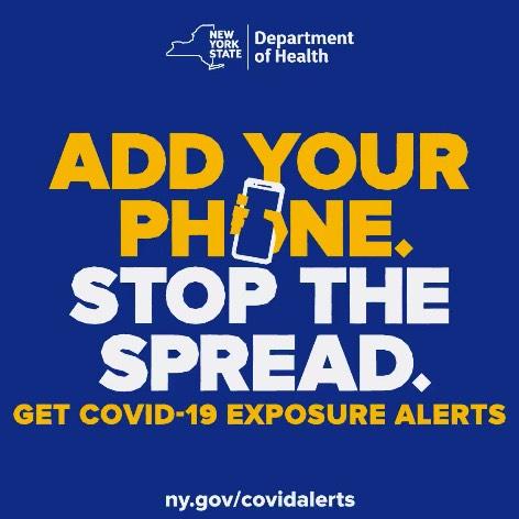 stop the spread covid app banner